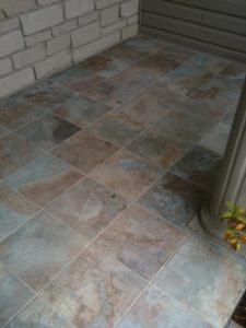 Outdoor entryway frost resistant porcelain tile