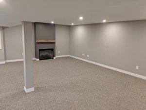 Durable berber carpet basement