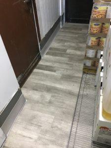kitchen with vinyl plank floor