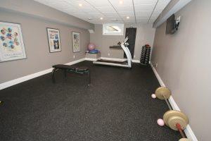Rubber tiled exercise room | PDJ Flooring