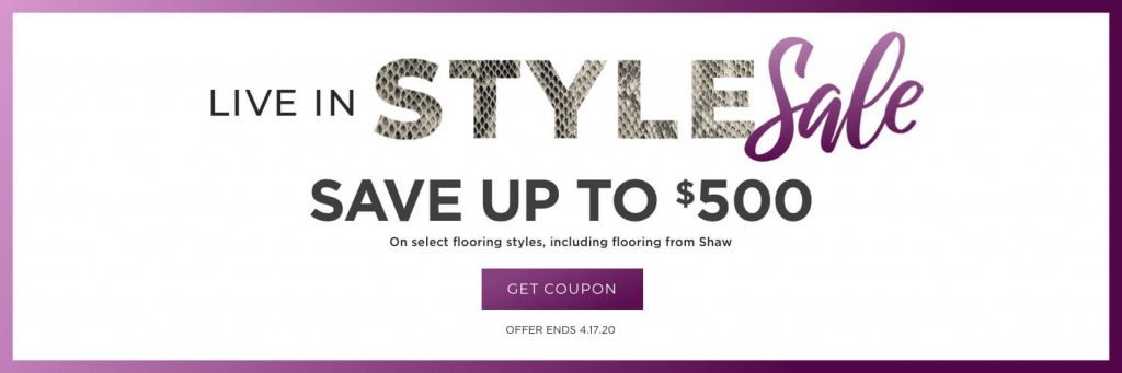 Live in Style Sale | PDJ Flooring