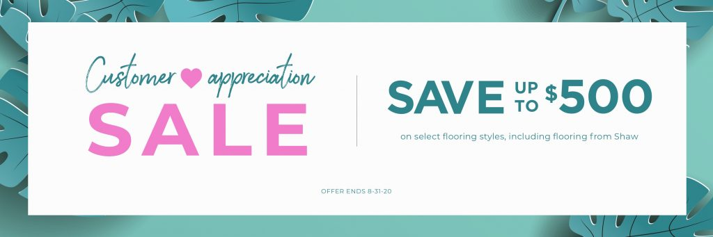 Customer Appreciation Sale | PDJ Flooring
